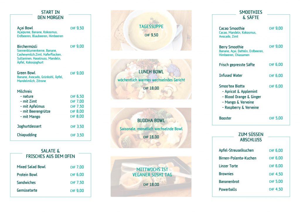 SOUL FOOD Karte Angebot